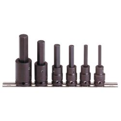 PROTO J74252, J74252 1/2 DR IMPACT HEX BIT - SET METRIC 6PC. J74252