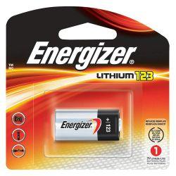 ENERGIZER EL123APBP, BATTERY-LITHUM 3V - PER EA (CR123A)ENERGIZER EL123APBP