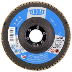"""5"""" X 7/8 60G FLAP DISC - (FIBRE BLACK) TOP-ZA60-B"""