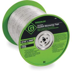 "GREENLEE 435, TAPE MEASURE - CONDUIT - 3/16"" X 3000' POLY 435"