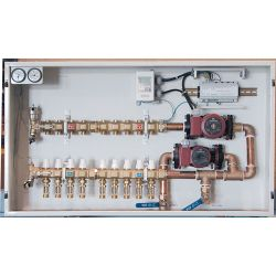 HYDRONIC PANEL SYSTEMS 915, CONTROL PANEL WITH TEMPERING - VALVE 7 LOOP 915