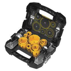 DEWALT D180005, HOLE SAW KIT 14 PC - 3/4-2 1/2 C/W 2 MANDREL D180005