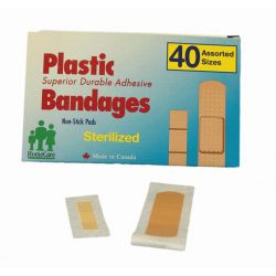 "DENTEC 80-3236-0, PLASTIC STRIPS BANDAGES - 25/PK 3/4"" X 3"" 80-3236-0"