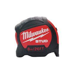 """MILWAUKEE 48-22-9826, TAPE MEASURE 8M/26' - 1-1/4"""" BLADE STUD 48-22-9826"""