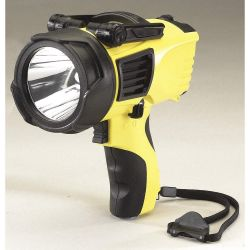 STREAMLIGHT 44910, FLASHLIGHT-WAYPOINT 120V AC - YELLOW RECHARGEABLE 44910
