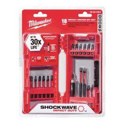 MILWAUKEE 48-32-4403, DRIVER BIT SET-SHOCKWAVE 18PC - IMPACT DUTY W/STORAGE CASE - 48-32-4403