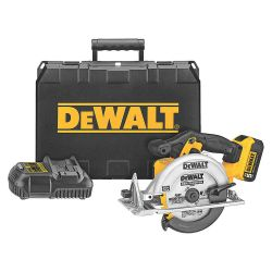 "DEWALT DCS391P1, CIRCULAR SAW KIT 20V LI-ION - 6-1/2"" W/1 BATTERY,CHARGER,KIT DCS391P1"