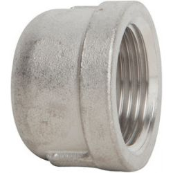 "PINACLE STAINLESS STEEL 316CTC15, 1 1/2"" 316 STAINLESS STEEL CAP - THREADED 316CTC15"