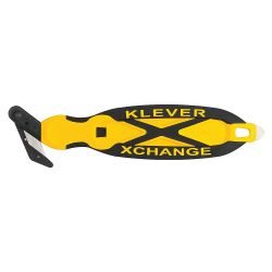 """KLEVER EXCEL KCJXC30Y, KLEVER EXCEL SAFETY KNIFE - BLACK/YELL ONE SIDED 6-3/4"""" KCJXC30Y"""