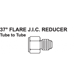 """PAULIN / DOMINION FITTINGS DS347-8-6, STEEL TUBE REDUCER FJIC - 0603-8-6 1/2""""-3/8"""" - DS347-8-6"""