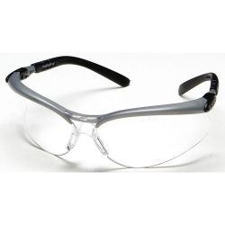 3M CABOT 11380, GLASSES-SAFETY BX CLEAR LENS - SILVER/BLK FRAME ANTI-FOG 11380