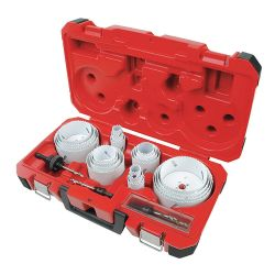 MILWAUKEE 49-22-4185, 28 PC ALL-PURPOSE PROF. ICE - HARDENED HOLE SAW KIT 49-22-4185