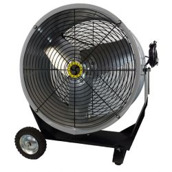 "AIRMASTER FAN 70001, FAN ROUND PORTABLE 2 SPD 24"" - 1/4 HP 115V DIRECT DR UL/CUL 70001"
