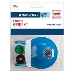 "MANSFIELD PLUMBING 106300207, FLAPPER KIT 3"" FITS - ALL MANSFIELD 3"" FLUSH VALVES - 106300207"