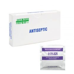 SAFECROSS FIRST AID 02619, ANTISEPTIC TOWELETTES - 12/BX 02619