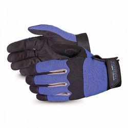 SUPERIOR GLOVE MXBUFL/L, GLOVE-LEATHER PALM MECHANICS - CLUTCH GEAR INSULATED LARGE - MXBUFL/L