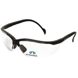 PYRAMEX SB1810R25, GLASSES SAFETY-V2 READER 2.50 - CLEAR LENS BLACK FRAME SB1810R25