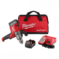MILWAUKEE 2810-22, MUD MIXER KIT - M18 FUEL (2)XC5.0 BATTS 2810-22