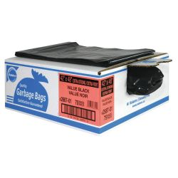"RALSTON 2681-01, GARBAGE BAG-PLASTIC (125/CS ) - 26"" X 36"" XSTRONG ECONO BLACK 2681-01"