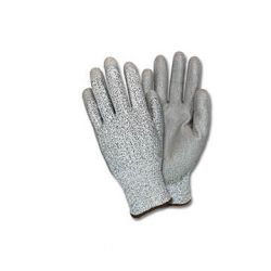 CANSAFE - SAFETYZONE GS13-MD-CYPU, GLOVE- POLYURETHANE COATED - KNIT CUT LVL 3 MEDIUM - GS13-MD-CYPU