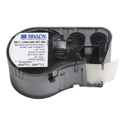 "BRADY MC1-1000-595-WT-BK, LABEL MAKER CARTRIDGE 1"" X 25' - BLACK ON WHITE - MC1-1000-595-WT-BK"
