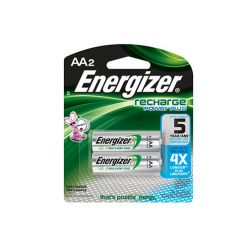ENERGIZER NH15BP-2, BATTERY-NICKEL METAL-HYDRIDE - 1.2V AA2 RECHARGEABLE 2/PK - NH15BP-2
