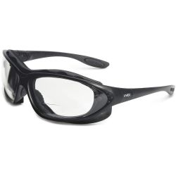 HONEYWELL UVEX S0662X, SEISMIC SEALED SAFETY GLASSES - W/MAGNIFIER +2.0 DIOPTER S0662X
