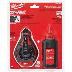 MILWAUKEE 48-22-3986, CHALK-RED WITH 100' BOLD - LINE KIT 48-22-3986