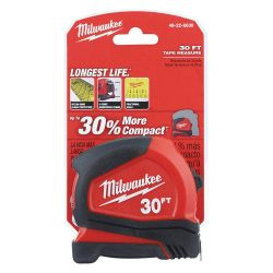 MILWAUKEE 48-22-6630, TAPE MEASURE 30FT COMPACT 48-22-6630