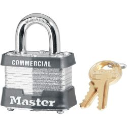 MASTER LOCK 3, PADLOCK-LAMINATED STEEL #3 - 1-1/2 3