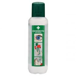 SAFECROSS FIRST AID 04102, EYEWASH-SINGLE USE - 500 ML BOTTLE CEDERROTH 04102