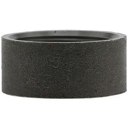 "BOSHART INDUSTRIES BLMHC-15, STEEL HALF COUPLING-BLACK - 1-1/2"" THREADED - BLMHC-15"