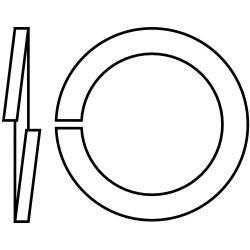 FULLER METRIC W041-008-0000, LOCKWASHER-METRIC PLATED 8 MM W041-008-0000