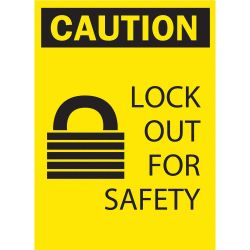 "BRADY 65571, LOCKOUT SIGN 10"" X 7"" - ""LOCK OUT FOR SAFETY"" 65571"