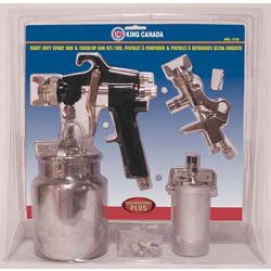 KING TOOLS 8185, SPRAY GUN KIT, 1/4 NPT, - 1.8MM/1.5MM NOZZLE - 8185