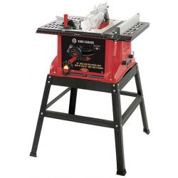"""KING TOOLS KC-5005R, 10"""" TABLE SAW 15AMP 4800RPM - 26"""" X 19"""" TABLE W/ STAND - KC-5005R"""
