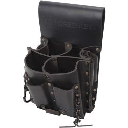 """GREENLEE 0258-11, LEATHER POUCH - 8 POCKET - 10-1/2""""H X 7""""L 0258-11"""