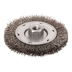 """BOSCH WB569, WHEEL - 4"""" 5/8"""" X 11"""" ARBOR - TEMPERED STEEL CRIMPED WIRE WB569"""