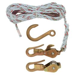 KLEIN TOOLS H180230SSR, BLOCK, TACKLE, W/ GUARDED - SNAP, SWIVEL HOOKS, ROPE - H180230SSR