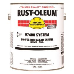 RUST-OLEUM 245387, PAINT-ENAMEL LOW VOC - 1 GAL FLAT BLACK 245387