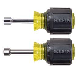 KLEIN TOOLS 610M, NUT DRIVER SET 2 PC - STUBBY MAGNETIC CUSHION GRIP 610M