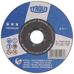 "TYROLIT 401205, 6"" X 3/64 X 7/8 TYROLIT - ZIP CUT WHEEL TA60P-BFXA 401205"