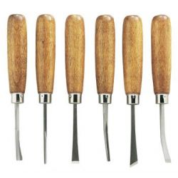 """GENERAL TOOLS 1290, 6 PC CARVING TOOL SET, 6-1/4"""" - LONG W/ 6 CUTTERS, VINYL CASE 1290"""