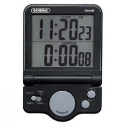 GENERAL TOOLS TI895B, DIGITAL BIG DIGIT, - COUNT-UP-DOWN TIMER W/CLOCK TI895B