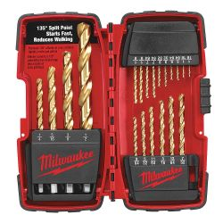 "MILWAUKEE 48-89-1105, DRILL BIT SET - 20 PC - 1/16"" - 1/2"" TITANIUM COATED 48-89-1105"