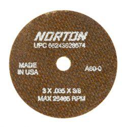 SAINT-GOBAIN NORTON 28471, WHEEL 3 X .060 X 1/4 - A60OBNA2 T1 - 28471