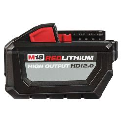 MILWAUKEE 48-11-1812, BATTERY PACK-HD M18 - 12.0AH FUEL RED LITHIUM 48-11-1812