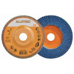 """WALTER SURFACE TECHNOLOGIES 15W454, DISC-FLAP 4-1/2"""" X 7/8"""" - 40G FLEXSTEEL 15W454"""