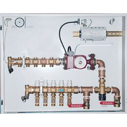 HYDRONIC PANEL SYSTEMS 916, CONTROL PANEL WITH TEMPERING - VALVE 8 LOOP 36 X 24 X 7 916