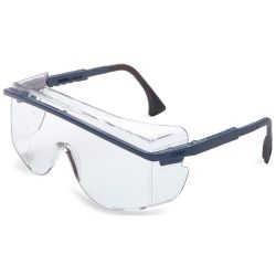 HONEYWELL UVEX S2510C, GLASSES-SAFETY ASTRO OTG 3001 - BLUE/CLEAR OVER-THE GLASS 4C+ S2510C